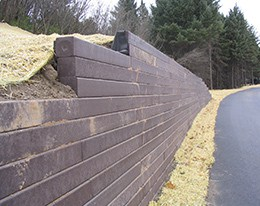 FiberForce Retaining Wall