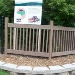 Polywood park and rec fencing made with recycled plastic lumber
