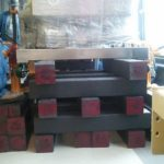 side view of recycled plastic lumber box crib support