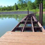 unfinished boardwalk made with recycled plastic lumber