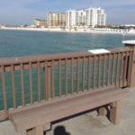 boardwalk fence made with recycled plastic lumber