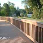 Boardwalk and fence made with recycled plastic lumber