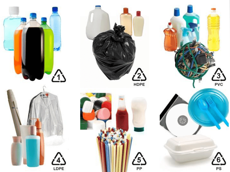 6 Common Plastic Types Image
