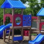 Kidzone playground made with recycled plastic lumber support solutions