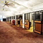 series of horse stalls made out of recycled plastic lumber