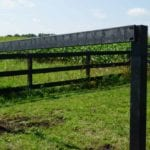 2-rail agriculture fence made from recycled plastic lumber