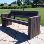Recycled plastic bench on Golf Course