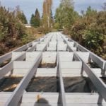 Boardwalk Substructure made with recycled plastic lumber