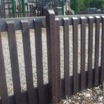 Recycled plastic fence at children's playground