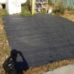 Equipment Mat made with recycled plastic lumber