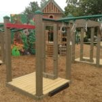 Playground equipment made with recycled plastic lumber