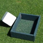Tee box at golf course made with recycled plastic lumber