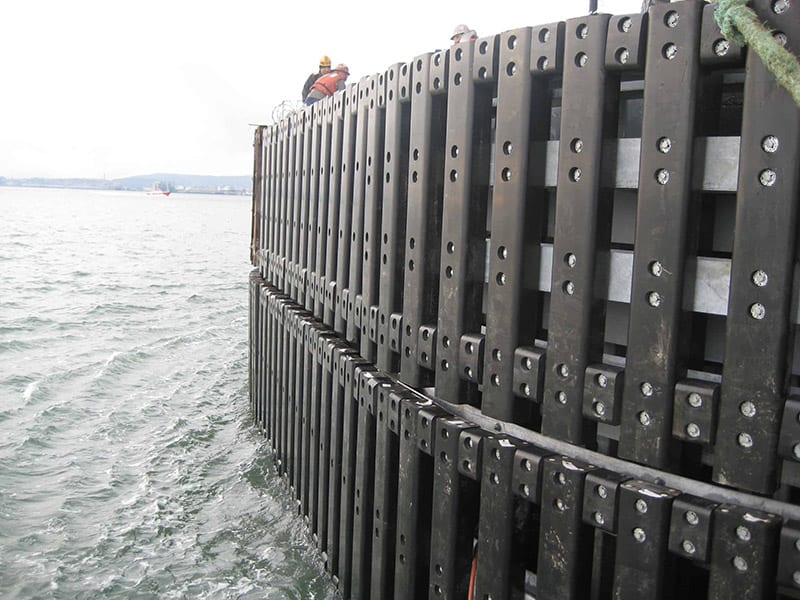 sea wall made with recycled plastic lumber