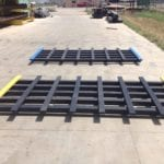 pair of sheet skids made with recycled plastic boards