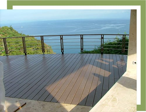 deck in Costa Rica made with recycled plastic lumber