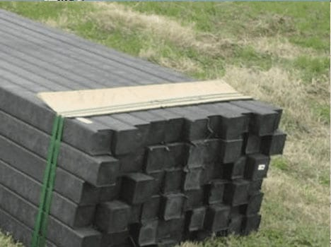 recycled plastic lumber soil stabilization pins