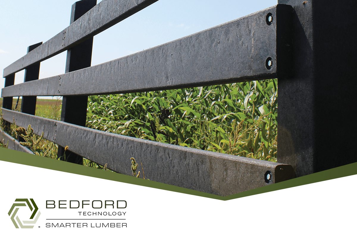 bedford technology plastic lumber in fencing