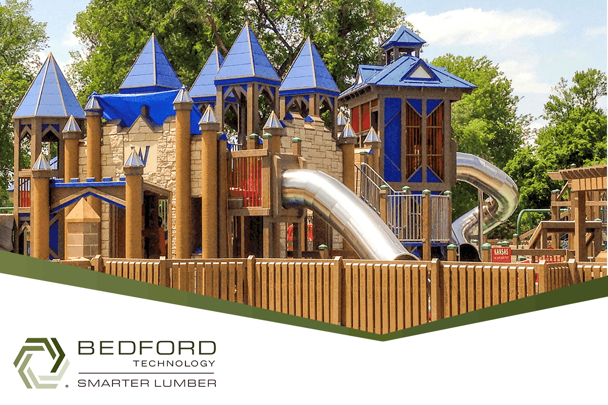 bedford technology plastic lumber in playgrounds