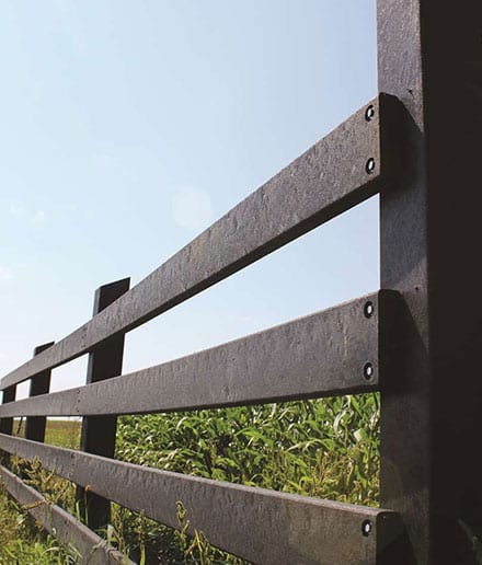 agriculture fencing made with recycled plastic wood