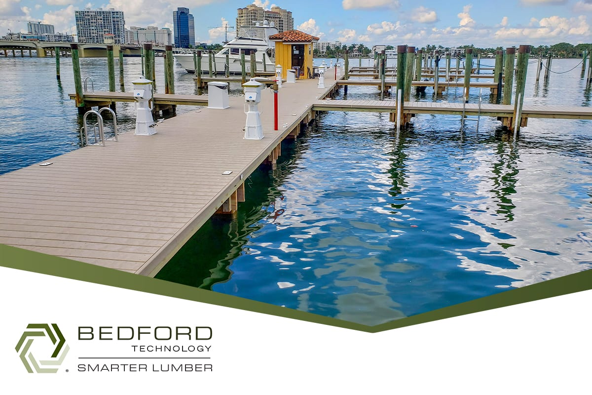 plastic lumber by bedford technology is resistant to marine borers