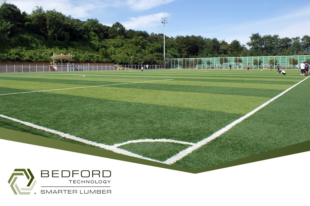 Artificial Turf Boards with Recycled Structural Plastic Lumber by Bedford Technology