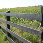 agriculture fence made out of recycled plastic boards
