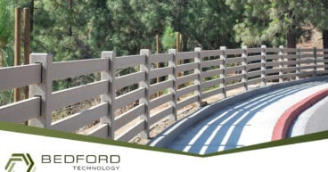 recycled plastic lumber fence