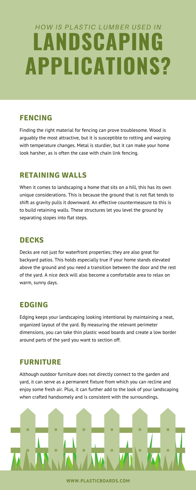 How is Plastic Lumber Used in Landscaping Applications?